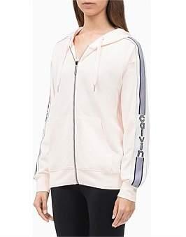 Calvin Klein Vertical Logo Tape Long Sleeve Full Zip Hoodie Jacket