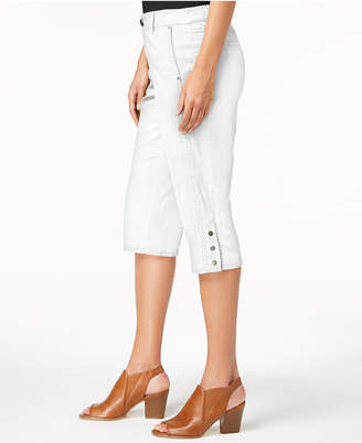 Style&Co. Style & Co Snap-Button Capri Pants, Created for Macy's