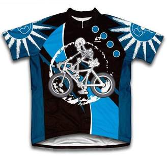 Scudo Skeleton Biker Microfiber Short-Sleeved Cycling Jersey, Assorted Sizes