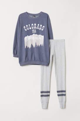 H&M Pajama Top and Leggings - Blue