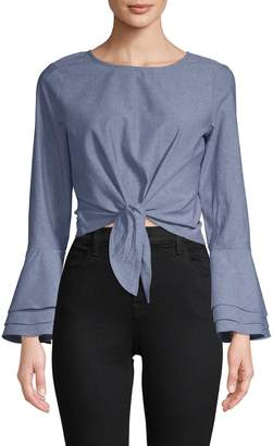 LIKELY Women's Chambray Bell Sleeve Top