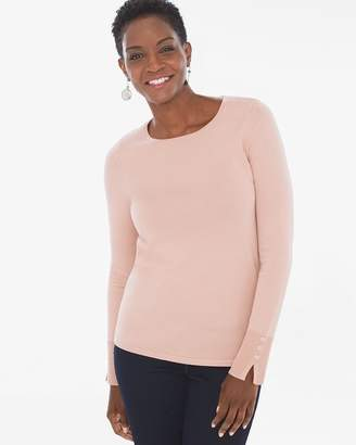 Chico's Chicos Button-Sleeve Pullover