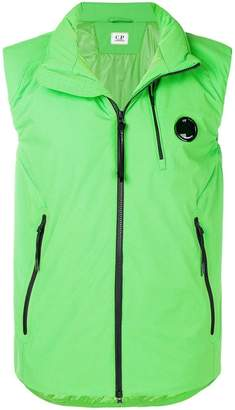 C.P. Company concealed hood zip vest