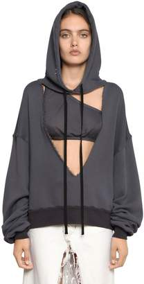 Unravel Hooded V Cut French Terry Sweatshirt