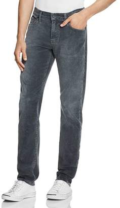7 For All Mankind Slimmy Slim Fit Coruroy Pants in Gray