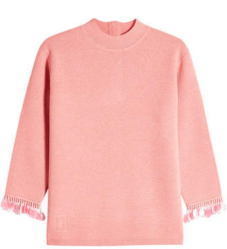 Marc Jacobs Wool Pullover with Sequin-Trimmed Sleeves