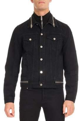 Givenchy Distressed Denim Trucker Jacket, Black $1,290 thestylecure.com