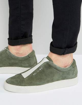 Gusset Suede Trainers