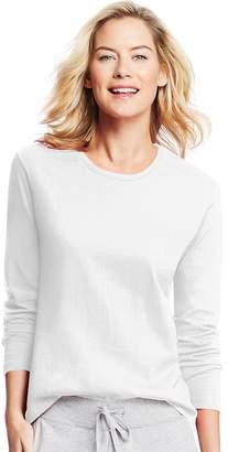 Hanes Women's Long-Sleeve Crewneck T-Shirt__XL