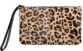 MAHI Leather - Classic Clutch Bag In Leopard Print Pony Fur