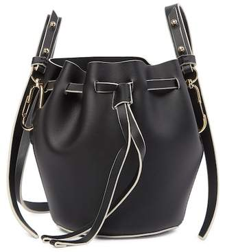 Zac Posen Belay Drawstring Leather Bucket Bag
