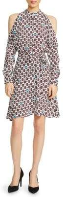 Maje Cold Shoulder Shirt Dress