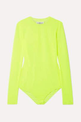 Maison Margiela Neon Stretch-mesh Bodysuit - Chartreuse