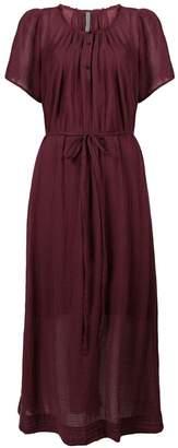 Raquel Allegra belted maxi dress