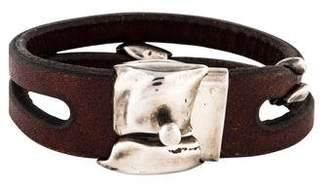 Georg Jensen Anette Kraen Leather bracelet