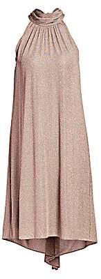 Halston Women's Sleeveless Mockneck Shift Dress