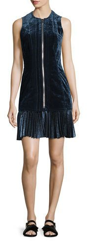 3.1 Phillip Lim 3.1 Phillip Lim Sleeveless Paneled Velvet Dress, Sapphire