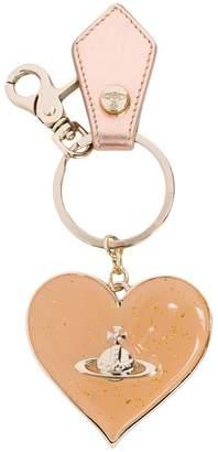 Vivienne Westwood glitter heart mirror keyring