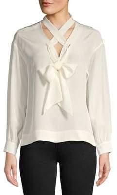 Diane von Furstenberg Laced Silk Blouse