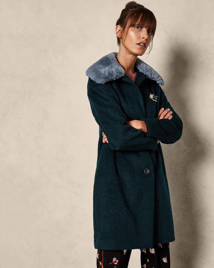 KERENSA Mohair faux fur coat