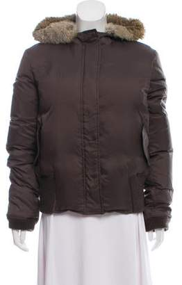 Joseph Fur-Trimmed Hooded Jacket