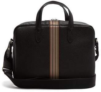 Paul Smith - Signature Stripe Leather Weekend Bag - Mens - Black