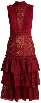 Jonathan Simkhai Tower tiered-skirt lace dress