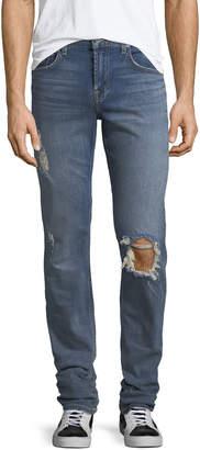 7 For All Mankind Men's Slimmy Distressed Slim-Leg Jeans