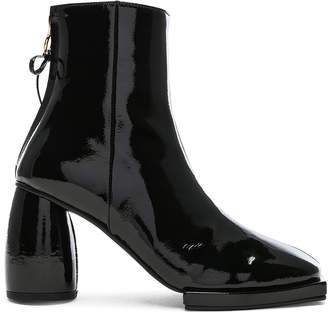 Reike Nen Patent Leather Square Ribbon Half Boots