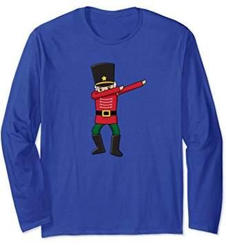 Dabbing Nutcracker Long Sleeve Shirt Christmas Dab Dance