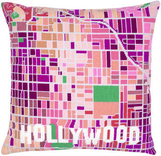 Hannah Bass Needlepoint Hollywood White City Map Tapestry Kit