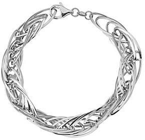 "Italian Gold 8"" Interlocking Link Bracelet 14K,"