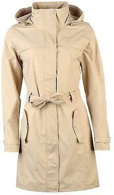 Gelert Womens Fairlight Jacket Top Coat Waterproof Hooded Full Zip Waist Belt