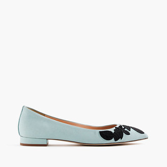 Embroidered pointed-toe flats $158 thestylecure.com