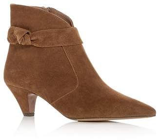 Tabitha Simmons Women's Nixie Suede Kitten Heel Pointed Toe Booties