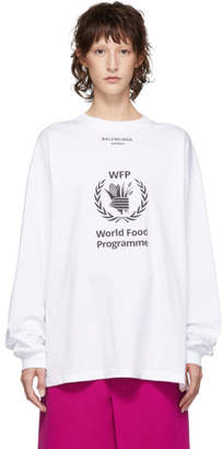 Balenciaga White World Food Programme Long Sleeve T-Shirt