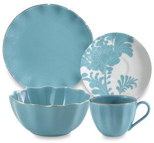 Kate Spade Gwinnett Lane Turquoise Dinnerware by Lenox