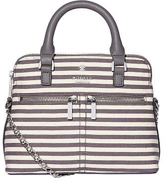 Modalu Pippa Chain Cross Body Bag, Grey Stripe