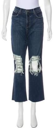 L'Agence Mid-Rise Distress Jeans w/ Tags