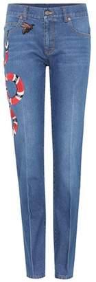 Gucci Appliquéd slim jeans