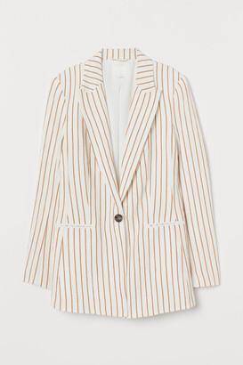 H&M Single-breasted Blazer - Yellow