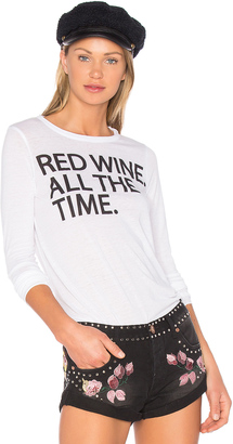 Chaser Red Wine Time Long Sleeve Tee $68 thestylecure.com
