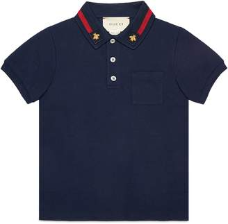 Gucci Children's cotton polo with bee