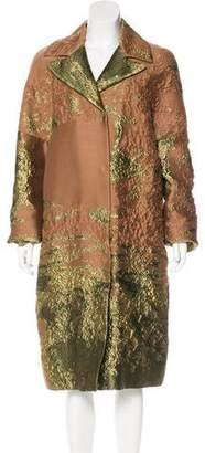 Alberta Ferretti Padded Jacquard Coat