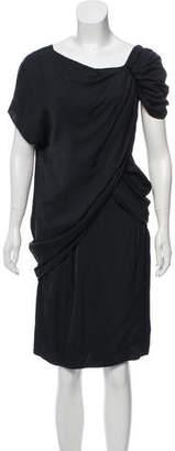 Prada Asymmetrical Knee-Length Dress