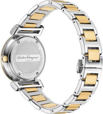 Salvatore Ferragamo 36mm Minuetto Two-Tone IP Watch with Bracelet