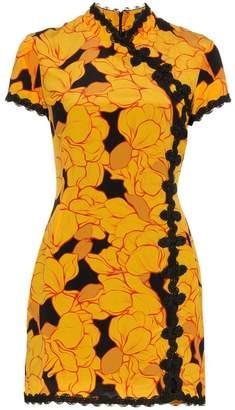 Suki De La Vali magnolia print mini dress