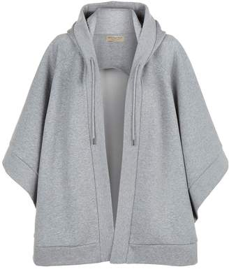 Burberry Jersey Asymmetric Hooded Poncho
