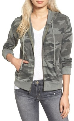 Women's Splendid Active Camo Zip Hoodie $148 thestylecure.com