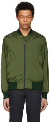 Paul Smith Green Lightweight Nylon Bomber Jacket